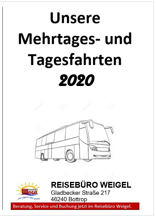Reisebüro Weigel – Eigene Reisen in 2020